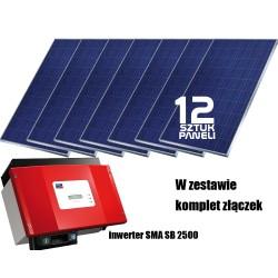 System fotowoltaiczny on-grid 2kW