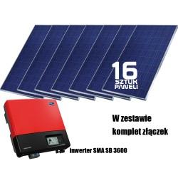 System fotowoltaiczny on-grid 4kW